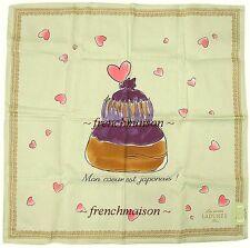 LADUREE 311 Earthquake/Tsunami Mon Coeur est Japonais French Scarf Handkerchief
