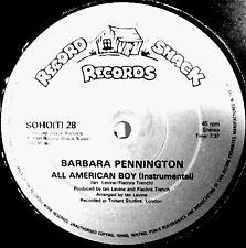 "12"" - Barbara Pennington - All American Boy (HI NRG) UK 1984 NEW, STOCK STORE"