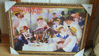 Loxton ART315 LARGE Framed QUALITY Print Renoir Friends on a boat 850mm x 615mm