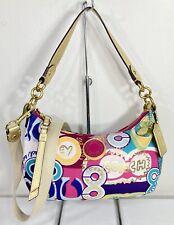 Coach Signature Poppy Pop C Graffiti Demi Crossbody Shoulder Bag Handbag F19426