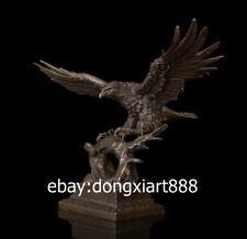47 CM Western Art Deco Bronze Wing Lanneret Hawk Eagle Falcon ornament Sculpture