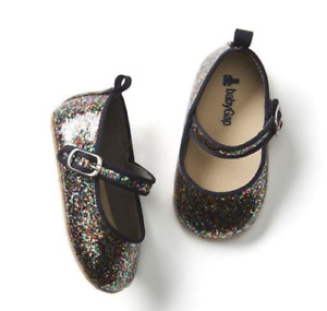 BABY GAP GIRL Confetti glitter mary janes flats shoes NWT 0-3M 3-6m 18-24m