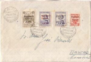 SPAIN - GUINEA ESPAÑOLA 1939 Cover circulated from Bata to Arucas