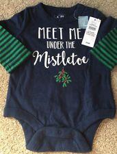 Baby Gap Ragazzi Natale Vischio divertente natalizio Gilet 0-3 mesi NUOVO