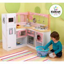 Exceptional KidKraft Grand Gourmet Corner Play Kitchen   53185, Pink