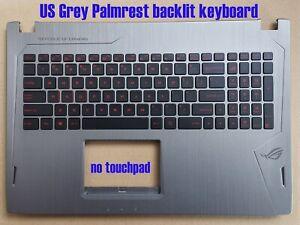 US Grey Palmrest backlit keyboard for Asus GL502VM GL502VMK 90NB0DR6-R31US0