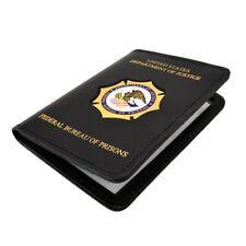 """FBOP Bureau Prisons Leather Double ID Case Dual Document Permit Holder 3"""" x 4.5"""""""