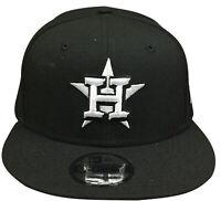 Mens New Era 9Fifty Black/White MLB Houston Astros Basic Snapback