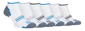 Storm Bloc - 6 Pack Mens Terry Cushion Cotton Sport Low Cut Quarter Ankle Socks