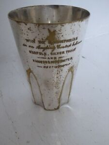 Antique 1877 Angling Contest Prize Beaker - Norfolk Silver Trout & Hammersmith