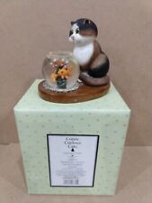 "Comic & Curious Cats ""Spoiled For Choice"" 2002 Cat with Fish Bowl Figurine"