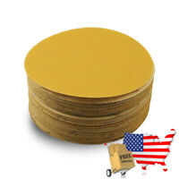 6 Inch Professional Gold Hook and Loop Sandpaper Discs 50Pc 320 Grit Like 3M