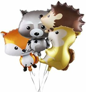 1set 4pcs Jumbo Woodland balloons Forest animals Fox Balloon party supplies