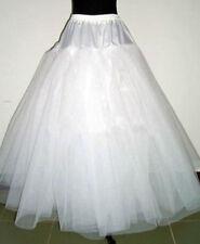 A-Linie Weiß kein ringe 3Schicht petticoat Unterrock Hochzeit Krinoline Reifrock
