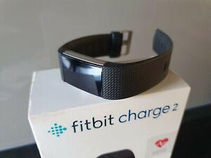 Fitbit Charge 2 Unisex Fitnesstracker - Schwarz; wie Neu, 1 x ausprobiert