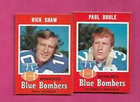 1971 OPC CFL WINNIPEG BLUE BOMBERS  NRMT  CARD LOT  (INV# C6286)