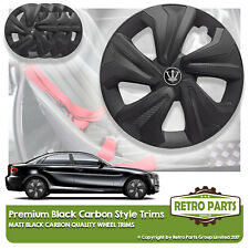 "15"" NERO MATT FINITURE IN CARBONIO PER FORD FIESTA. PRO wheel covers hub caps"