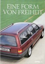 Prospetto/brochure OPEL Kadett Omega Caravan 09/1989