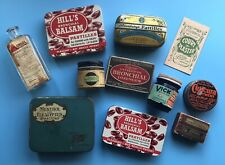 More details for 11 old chemist tins, bottle, packet from the 1930-1970s