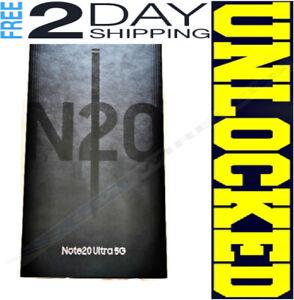 SAMSUNG NOTE 20 ULTRA 5G N986U1 128GB Mystic Black (FACTORY UNLOCKED) ❖SEALED❖