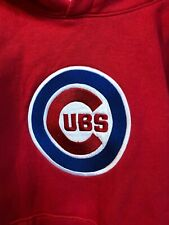 Boys Red Cubs Hoodie Majestic size 10-12 EUC