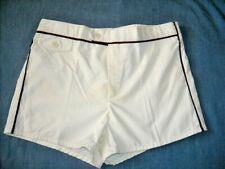 Vintage 80's Off White Men's Jantzen Swimsuit Bathing Trunks Shorts Lined ~ 34