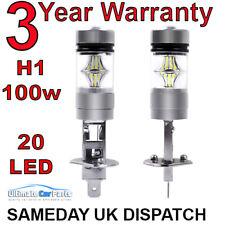 2x H1 Xenon White 6000K 100W LED SMD Driving Fog Beam Head Lights Bulbs DRL BULB