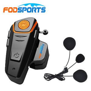 BT-S2 Motorcycle Intercom Intercom Helmet Headset Bluetooth Interphone FM