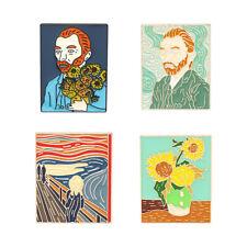 Creative Brooch Enamel Pins Badge Lapel Pins Van Gogh Oil Painting Sunflower New