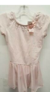 Dance Leotard XS or Small Child Ballet Tap Short Sleeve Rhinestone Bow Freestyle