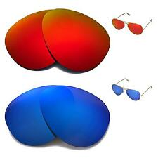 WL Polarized Fire Red+Ice Blue Lenses 4 Ray-Ban Aviator Large Metal RB3025 62mm