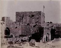 Jerusalem Israele Palestina Albumina Foto Stampa verso 1890 piccolo formato