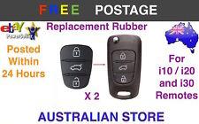 2x 3 Button Remote Flip Key Fob Case repair Rubber Pad For Hyundai I10 I20 I30