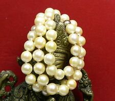 """TIMELESS SALTWATER GOLDEN AKOYA ROUND PEARLS 14K GOLD NECKLACE 17"""" AA++ 7-7.5mm"""