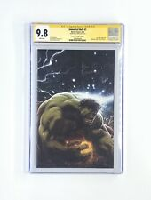 Immortal Hulk #1 Signed By Al Ewing Andrews Unknown Comics Variant CGC 9.8