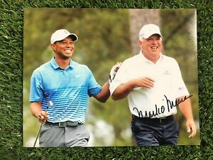 MARK O'MEARA TIGER WOODS GOLF THE OPEN MASTERS RYDER CUP HAND SIGNED 10x8 PHOTO