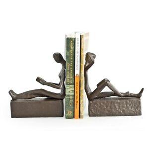 Danya B Man & Woman Reading Metal Bookend Set - ZI09013