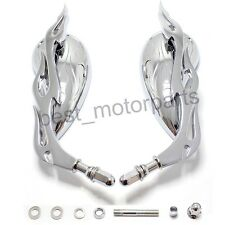 MOTORCYCLE CHROME FLAME MIRRORS FOR HARLEY DAVIDSON XL SPORTSTER 883 1200 CUSTOM
