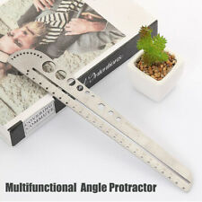 Multifunctional Stainless Steel Angle Protractor Ruler Degree Measuring Tool