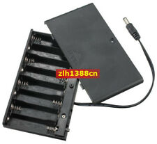 1pc x Battery Holder 8 AA Case 12V Switch DC 5.5mm*2.1mm Power Plug