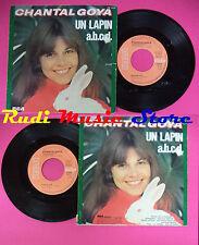 LP 45 7'' CHANTAL GOYA Un lapin A.b.c.d. 1977 france RCA PB 8127 no cd mc dvd