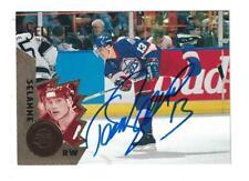Teemu Selanne 1994-95 Score Select Winnipeg Jets AUTOGRAPH Hockey card signed
