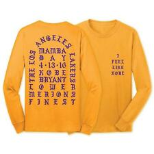 I Feel Like Kobe Mamba Day Pablo T-Shirt - Long Sleeve MENS LA Gold/Purple Kanye