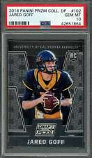 2016 panini prizm coll dp #102 JARED GOFF los angeles rams rookie card PSA 10