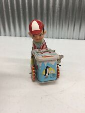 Tin ~ Litho ~ Wind Up ~  Tricycle ~  Bike ~ ice cream cart toy wheel pedal