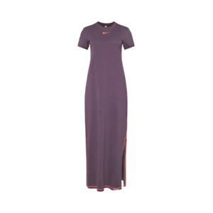 NIKE WOMEN SPORTSWEAR ICON CLASH DRESS 100% Cotton RAISIN/ MANGO sz XS S M L XL