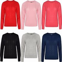 Ladies Women Cable Knit Long Sleeve Knitted Winter Jumper top Quality