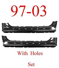 97 03 Ford Extended Rocker Set With Holes, Regular Cab, 2 Door, F150, Both Sides