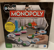 U-Build Monopoly Family Board Game by Hasbro, Open Box, Contents Inside Sealed