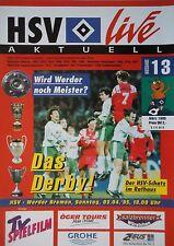 Programm 1994/95 HSV Hamburger SV - Werder Bremen